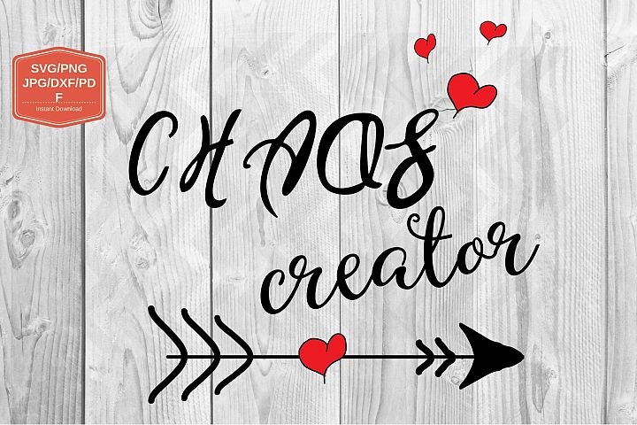 Chaos creator svg file, PNG JPG DXF, printable files