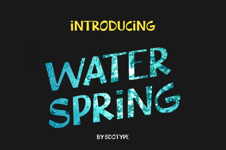 WaterSpring - Display Font