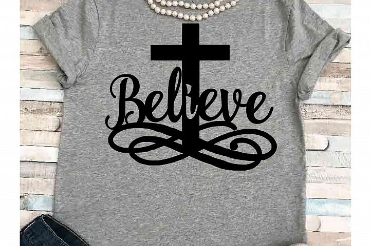 Easter svg SVG DXF JPEG Silhouette Cameo Cricut Jesus svg iron on Believe svg He is risen shirt Cross svg