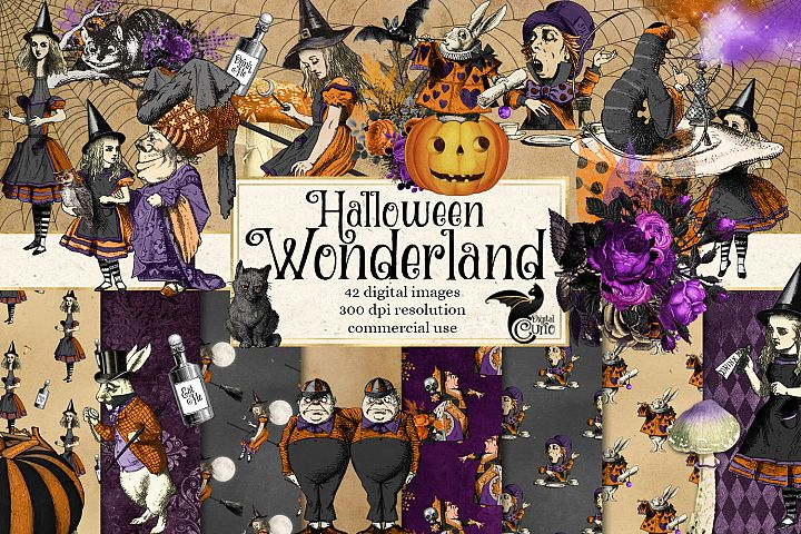 Halloween Wonderland Clipart and Digital Paper