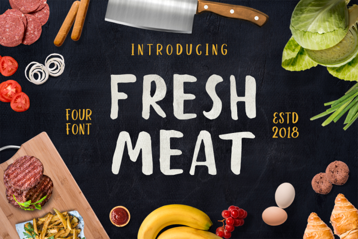 Fresh Meat 4 Font Pack + Bonu