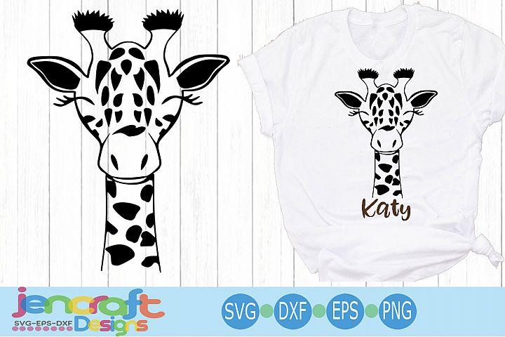 Baby Giraffe Face svg, Cute Fun Safari Giraffe head cut file
