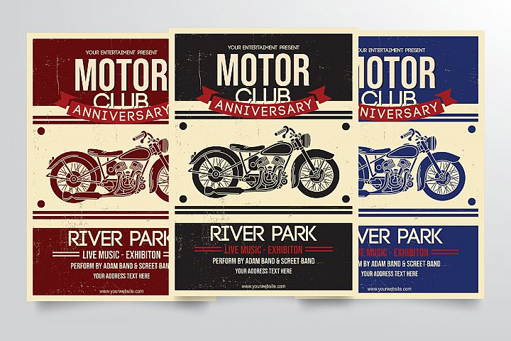 Motorcycle Club Flyer Template
