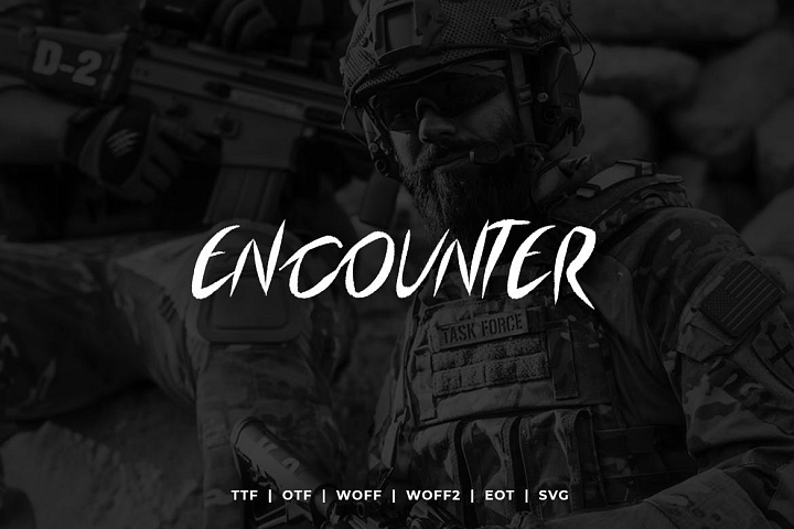 Encounter Display Typeface WebFonts