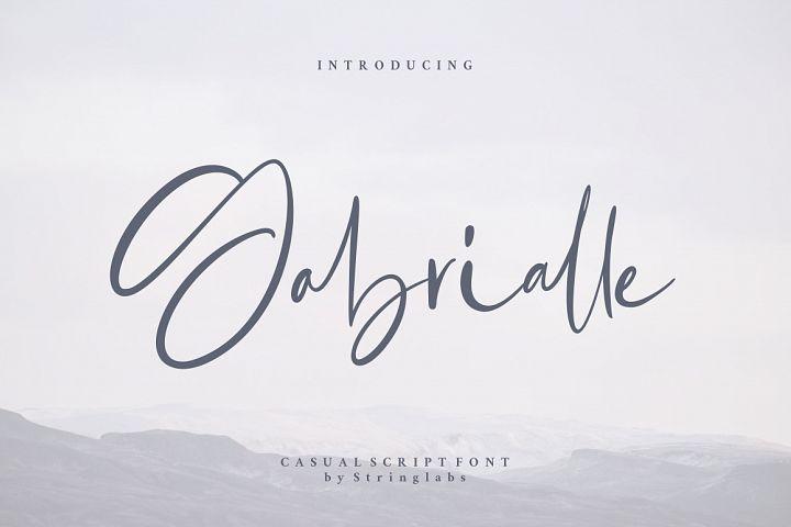 Gabrialle - Casual Script Font