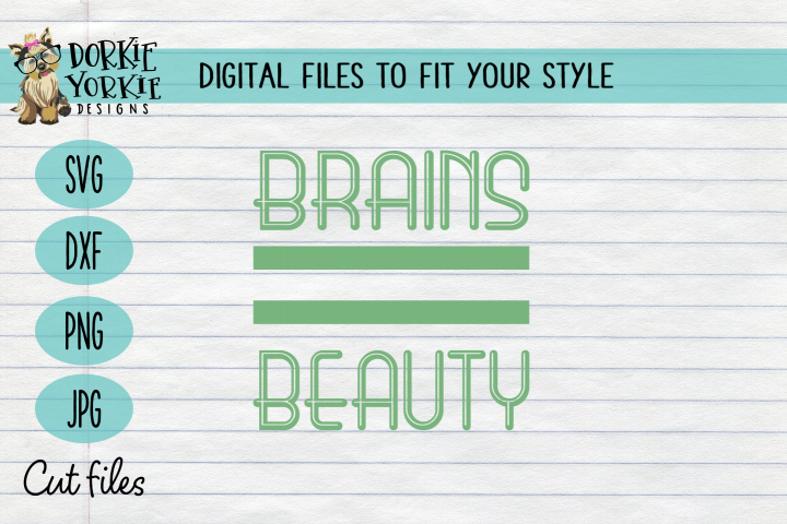 Brains beauty, smart, design, lines, simple - SVG cut