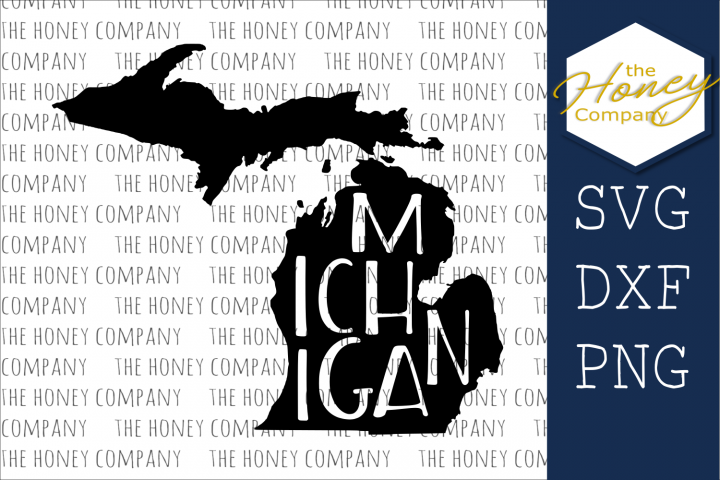 Michigan SVG PNG DXF Silhouette Cricut Cut Files Cutting