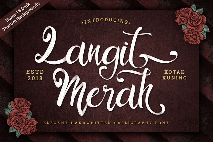 Langit Merah Font with Bonus 6 Dark Texture Backgrounds