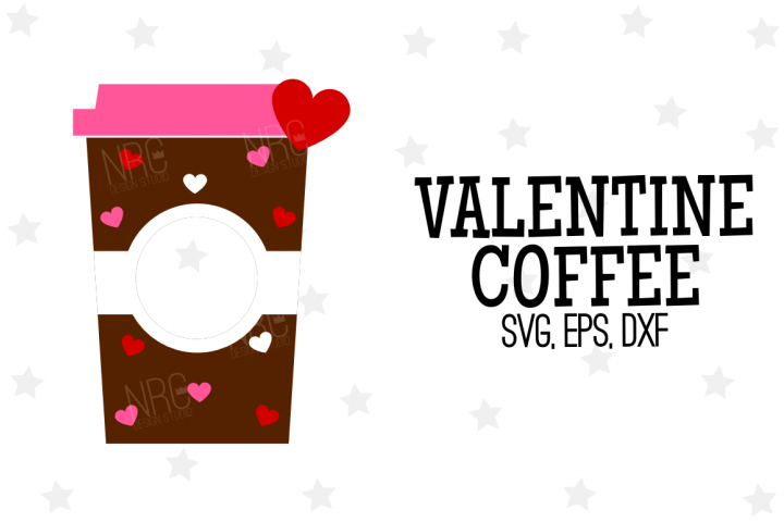 Valentine Coffee SVG File