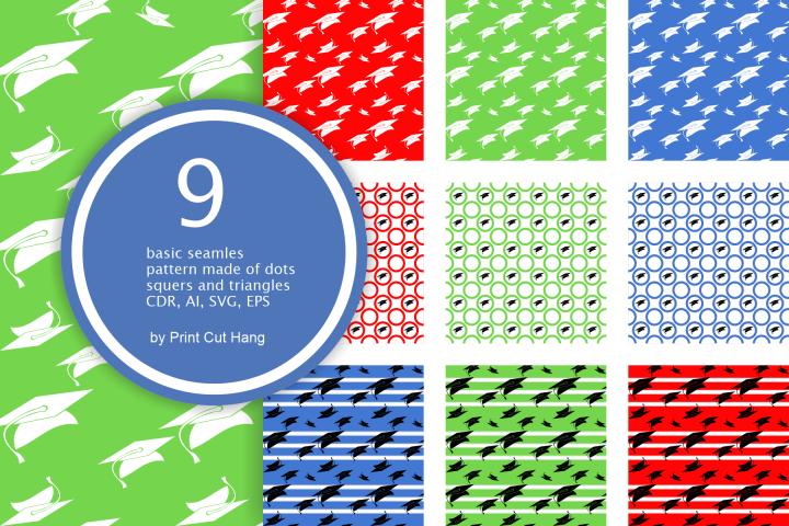 Graduation Seamless Patterns - Vector files - Background