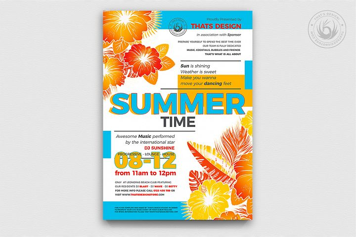 Summertime Flyer Template V2