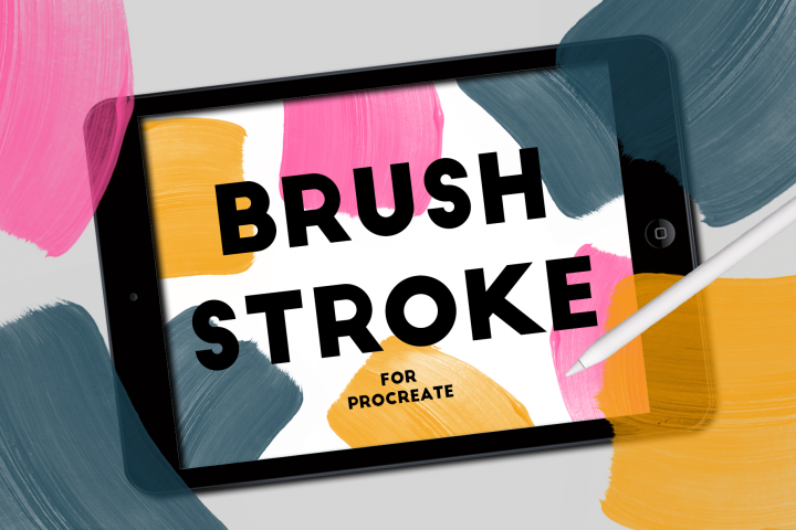 BRUSH STROKE STAMPS FOR PROCREATE