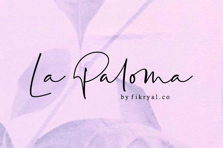 La Paloma//handwritten font