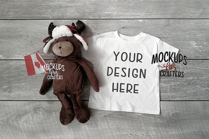 Childs TShirt Mock-up - Unisex - Canadian theme - moose