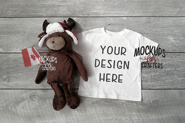 Childs TShirt Mock-up - Unisex - Canadian theme - moose