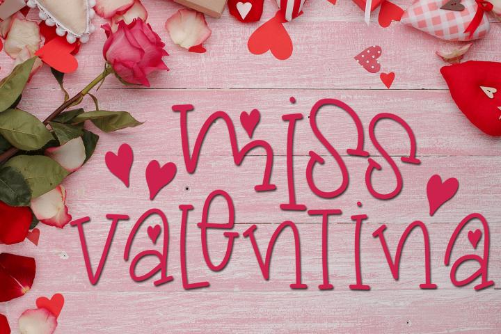 Valentines Day Font - Miss Valentina