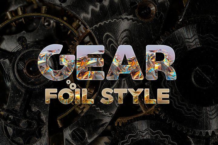 Foil Style Text Effect