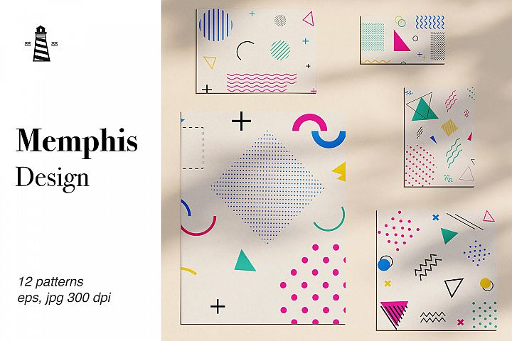 80s 90s Memphis Patterns