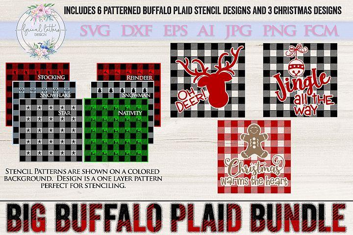 NEW! The Big Buffalo Plaid Christmas Bundle SVG DXF FCM