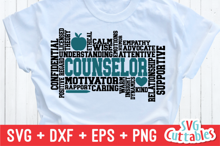 Counselor Word Art | Cut File