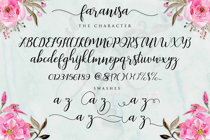 Faranisa Script - Free Font of The Week Design 3