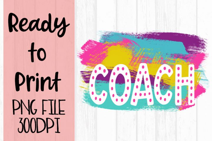 Blank Coach Bright Preppy Design Ready to Print example image 1