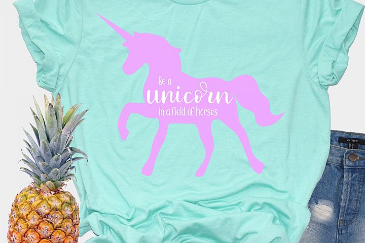 Unicorn SVG - Be a unicorn in a field of horses example 2
