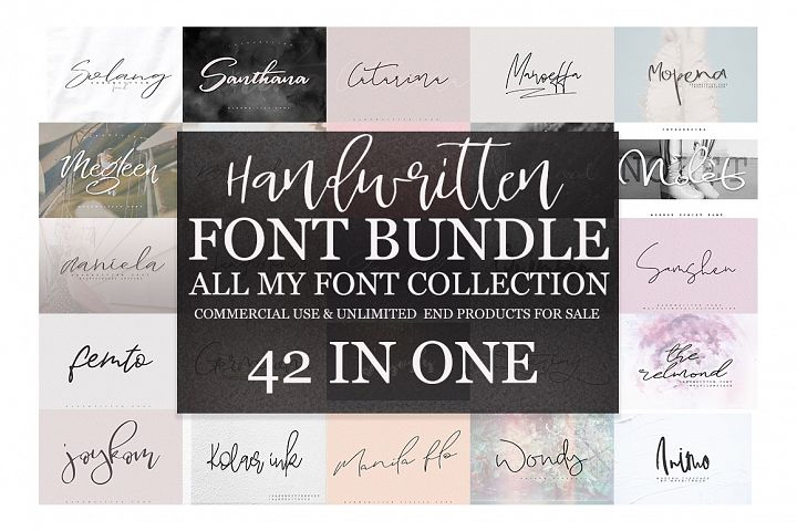 42 IN 1 Font Bundle SALE