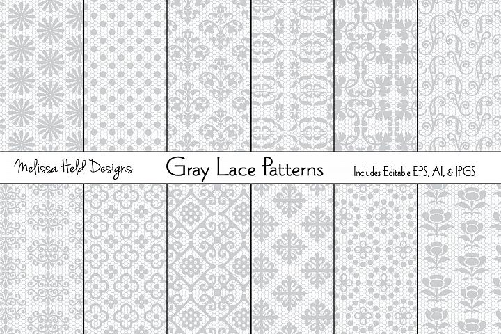 Gray Lace Patterns
