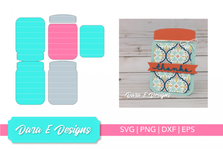 Mason Jar Card SVG | Card SVG | Card Making SVG