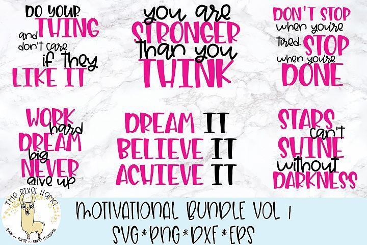 Motivational Bundle Vol 1 Bundle of 6 SVGs