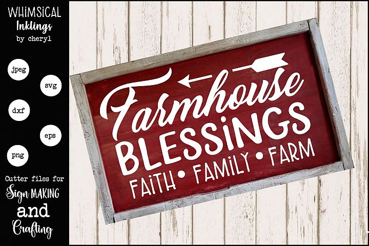 Farm House Blessings 2 SVG
