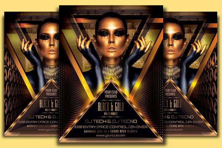 Black & Gold Flyer Template