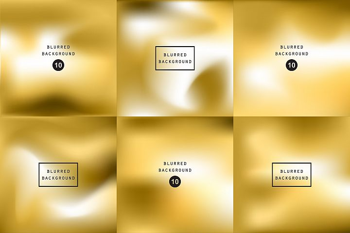 Blurred gold effect holographic gradient abstract background