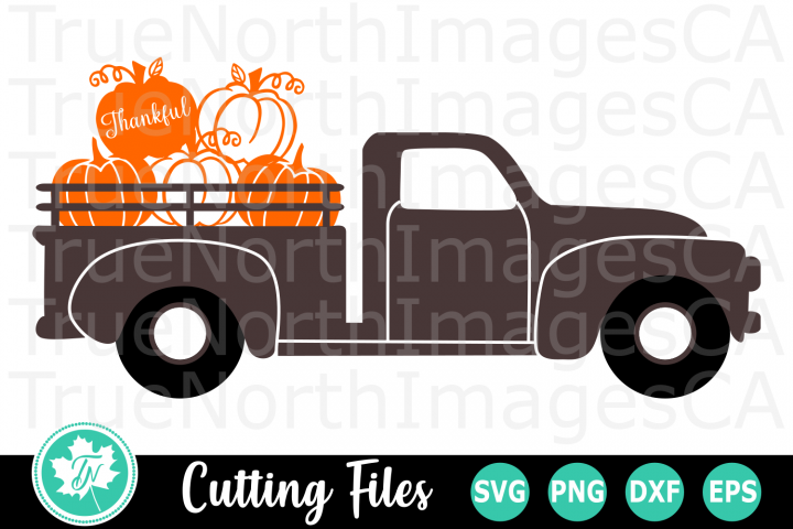 Pumpkin Truck - A Fall SVG Cut File