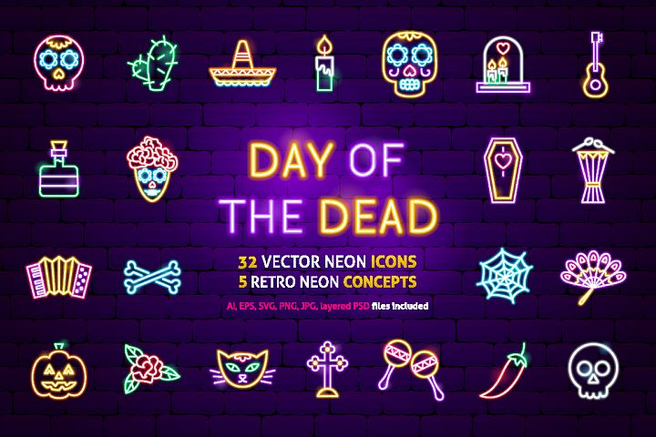 Day of the Dead Neon
