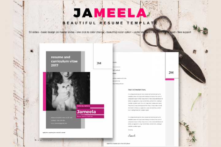 8 Sheets Resume and CV Template Modern Porfessional