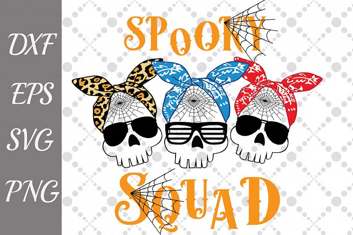 Spooky Squad Svg, HALLOWEEN SVG,Funny Scull Svg