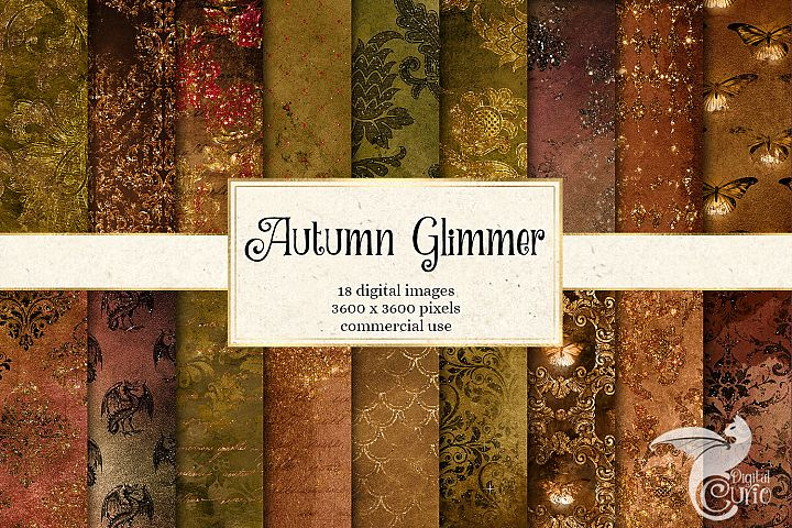 Autumn Glimmer Digital Paper