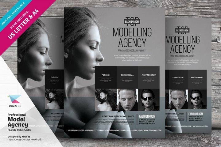 Model Agency Flyer Template