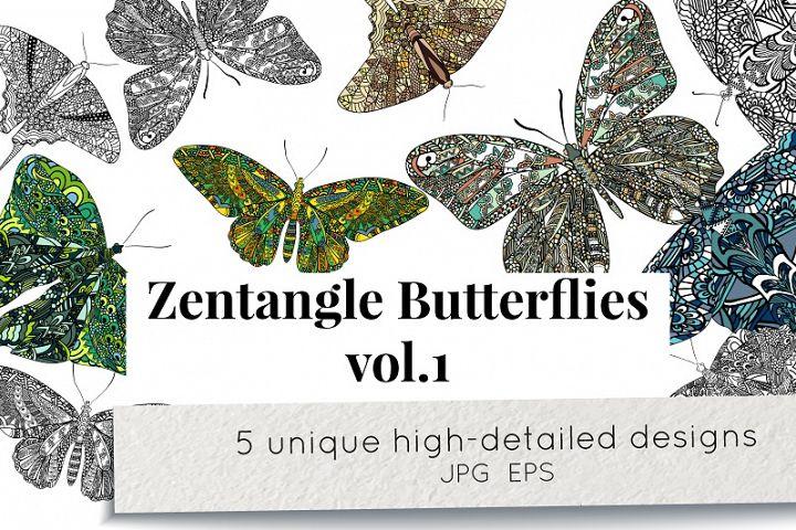 Zentangle butterflies vol.1