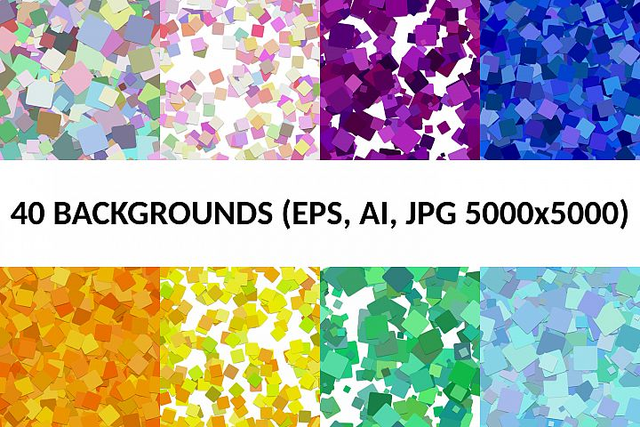 40 Seamless Square Backgrounds AI, EPS, JPG 5000x5000