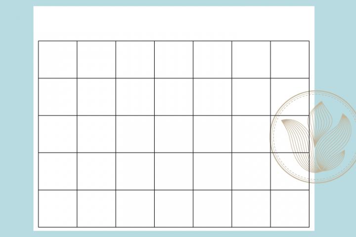 Blank calendar printable page