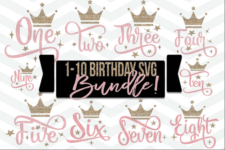 Birthday Numbers SVG- Birthday SVG PNG DFX