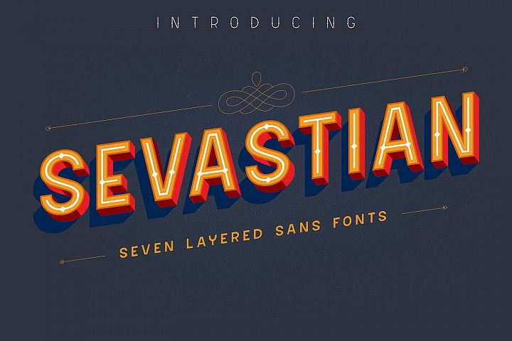 Sevastian - Seven Layered Typeface
