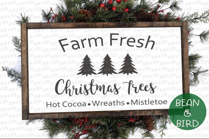 Vintage Farm Fresh Christmas Tree