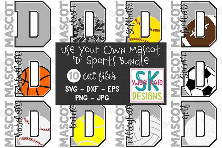 Your Own Mascot D SVG Bundle - 10 - SVG DXF EPS PNG JPG
