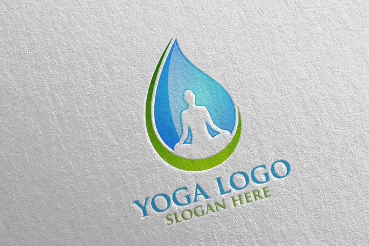 Yoga and Spa Lotus Flower logo 3