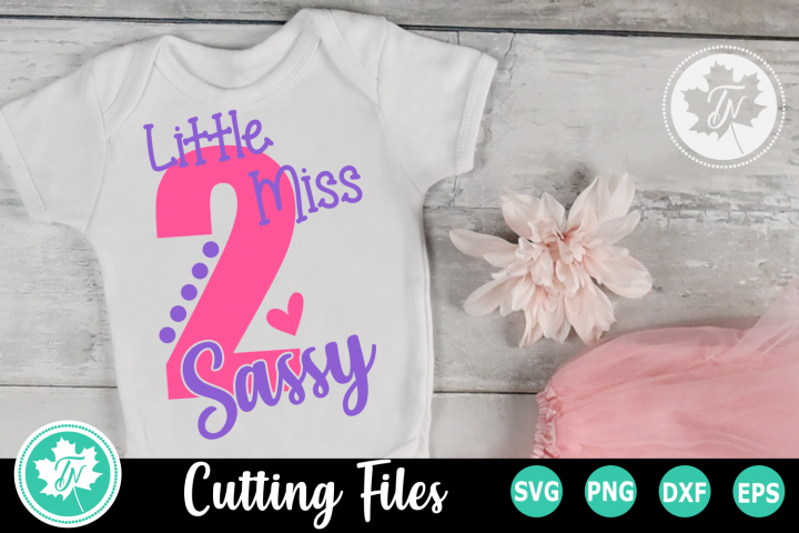 Little MIss 2 Sassy - A Second Birthday SVG Cut File