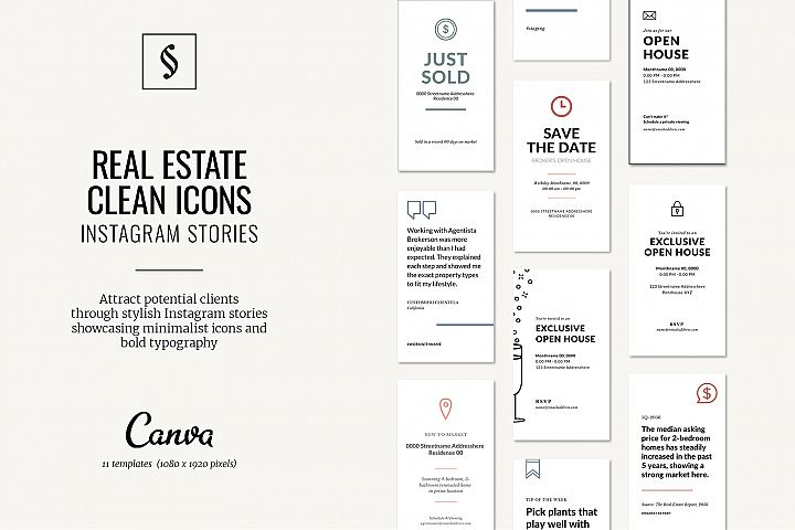 Canva Instagram Stories for Real Estate - Icons